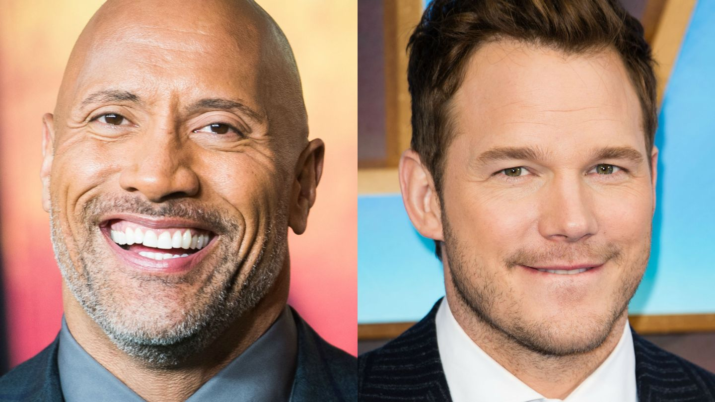 Chris Pratt And Dwayne Johnson Just Squeed Over Jumanji Together
