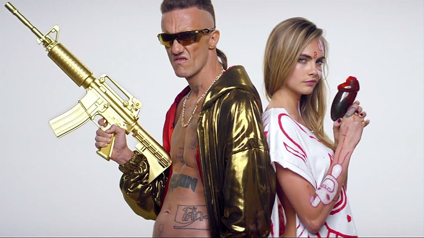 Watch Cara Delevingne Depants Ninja Of Die Antwoord In New