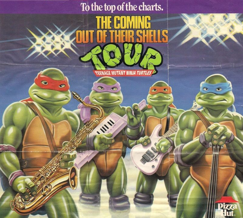 A Complete History Of TMNT Pizza Product Placement MTV - Superheroes re imagined as if they were sponsored by big brands