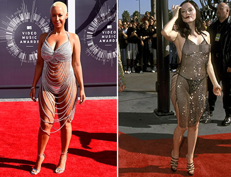 Amber Rose Is Next To Naked On The Vma Red Carpet Mtv