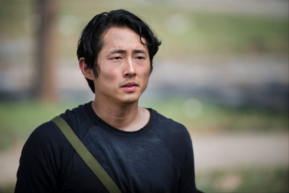 Steven Yeun as Glenn Rhee - The Walking Dead _ Season 5, Episode 2 - Photo Credit: Gene Page/AMC