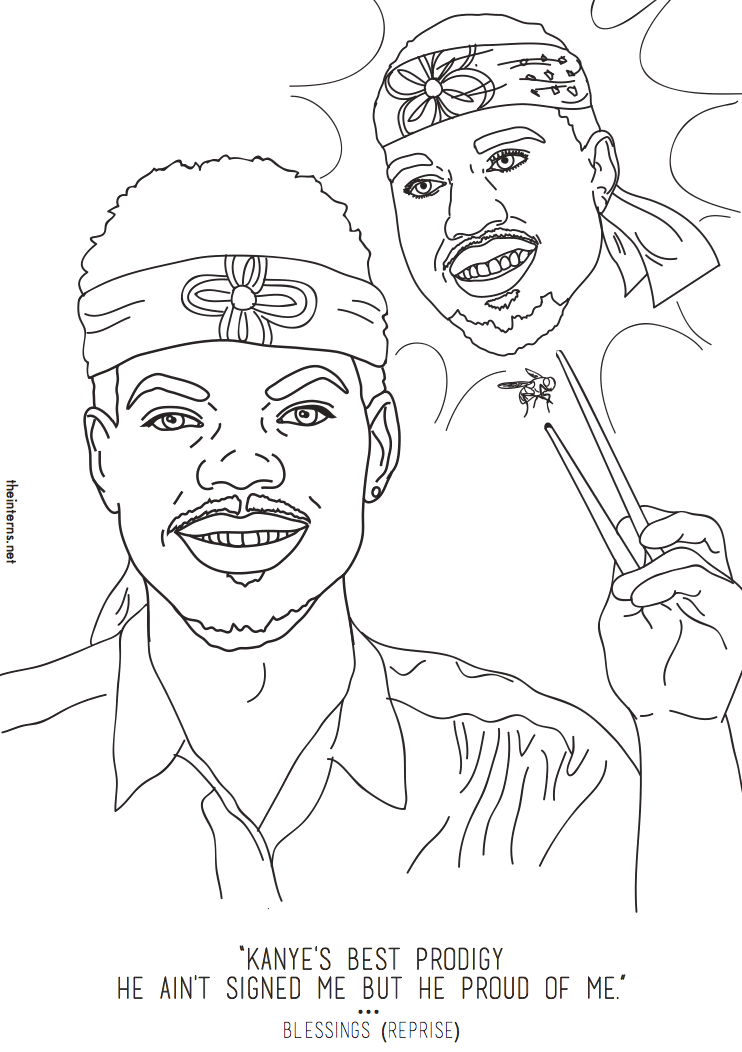 Chance the rapper 39 s coloring book inspired an actual for Rapper coloring pages